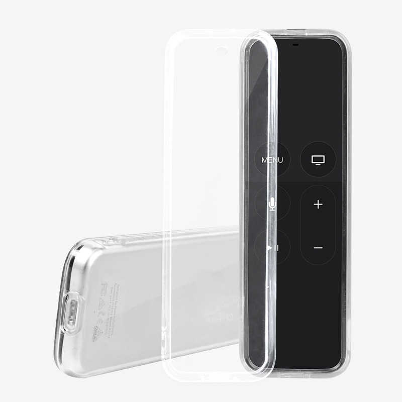 Protective Case for Apple TV 4 Remote Control Case With Soft Clear TPU Protective Case Sleeve Cover Case Dustproof