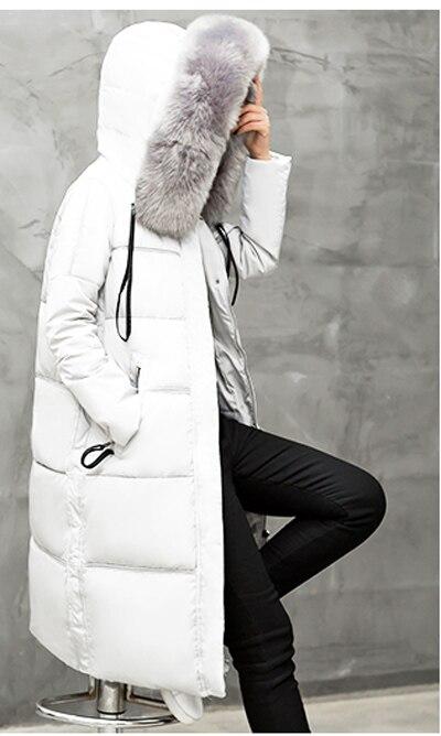 Ayunsue Long 2018 Épais Lx382 De En Duvet À Blanc Manteau Femmes D'hiver Gray balck Fausse Parka Outwear Dames pink Vente Capuchon Chaude Fourrure Canard Veste Mujer xnRXvnB