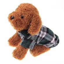 Модная клетчатая рубашка для домашних животных, летняя рубашка для собак, повседневные топы для собак, одежда для собак, одежда для щенков, одежда для домашних животных для маленьких собак, Новинка