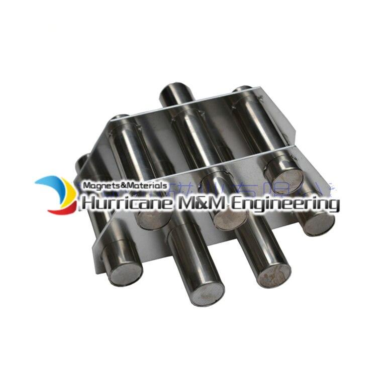 NdFeB магнитная палочка пластины 7 pc фильтр 6 к Gauss сильный неодимовый магнит нержавеющая сталь 304 кронштейн санитарно класс магнит для удалени