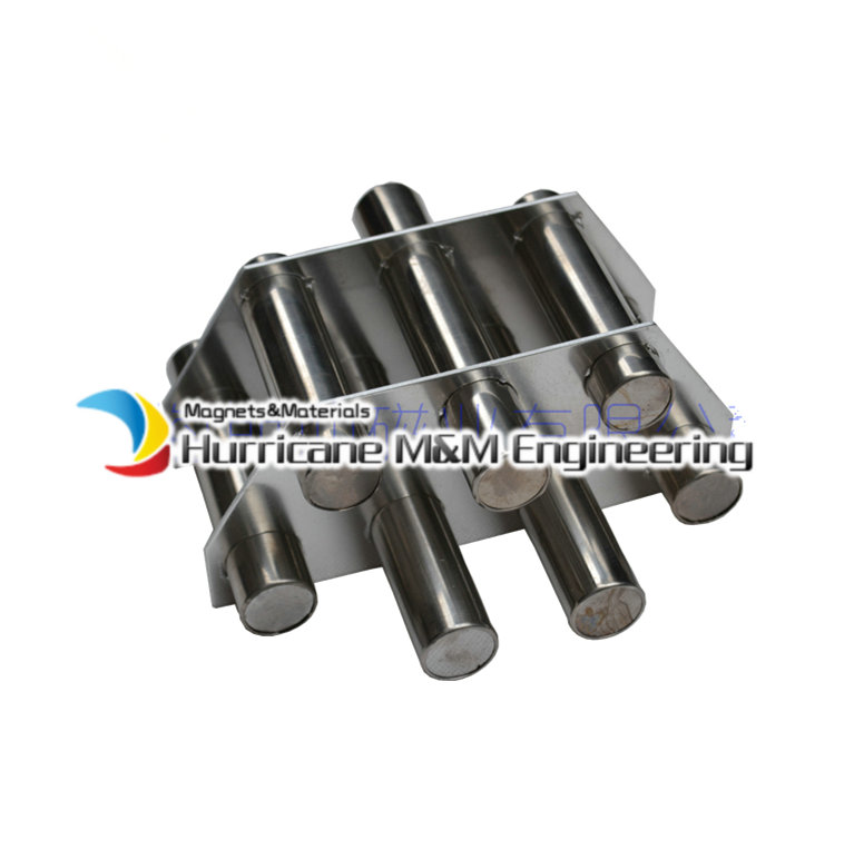 NdFeB Magnetic Wand Plate 7-pc Filter 6K Gauss Strong Neodymium Magnet Stainless Steel 304 Bracket Sanitary Grade Iron Removal 1 5 sanitary stainless steel ss304 y type filter strainer f beer dairy pharmaceutical beverag chemical industry