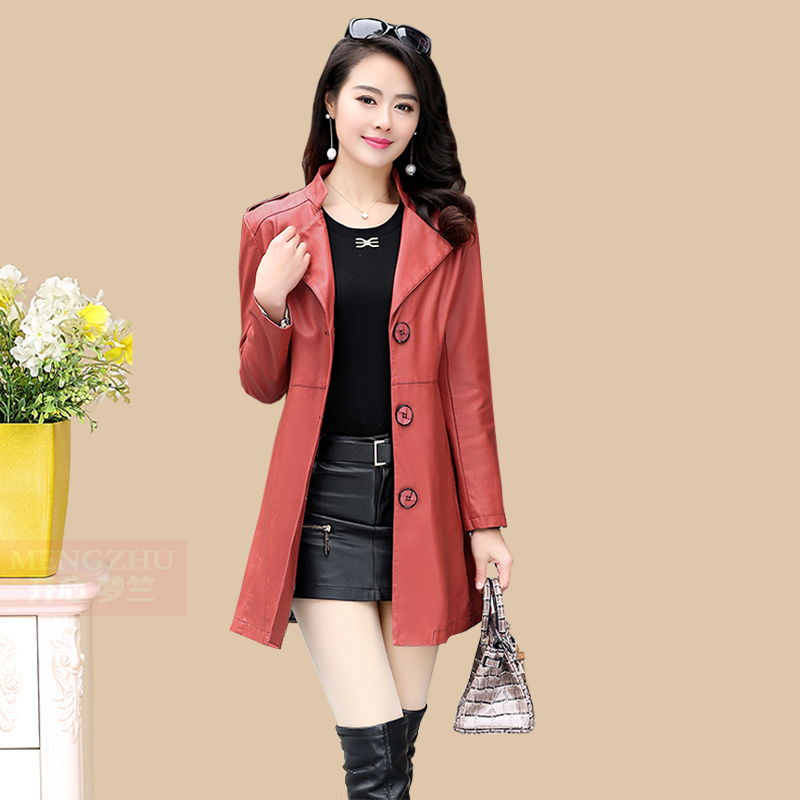 Women Black Leather Jacket 2017 New Brand Ladies Elegant Slim ...