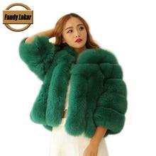 2015 New Fashion Raccoon Genuine Natural Fur Coats Winter Women Slim Short Real Fur Coat Female Overcoat Mex Jacket Ladies