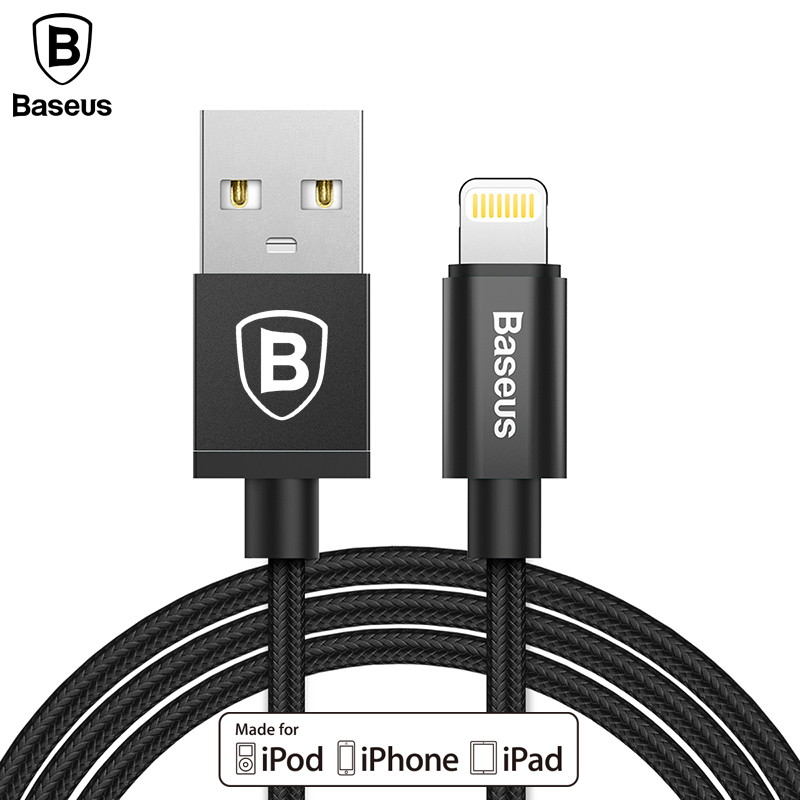Baseus MFI Certified USB Cable For iPhone X 8 7 6 6S 5 SE USB Charger Cable For iPhone iPad Air Pro iPod Fast Charging Cable