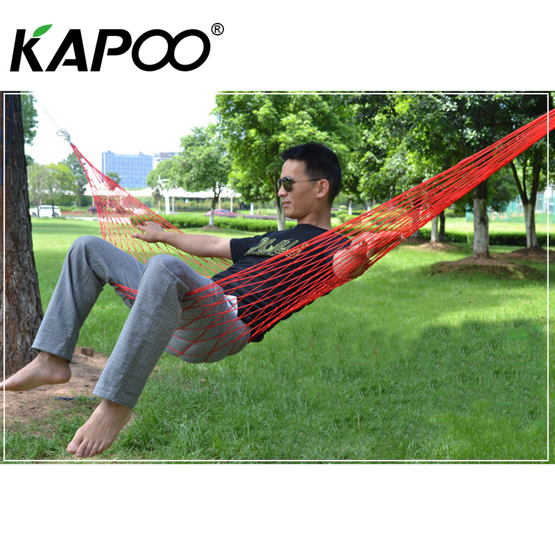 Five colors portable outdoor leisure mesh hammock outdoor furniture picnic camping necessary dormitory leisure hammock swing leisure