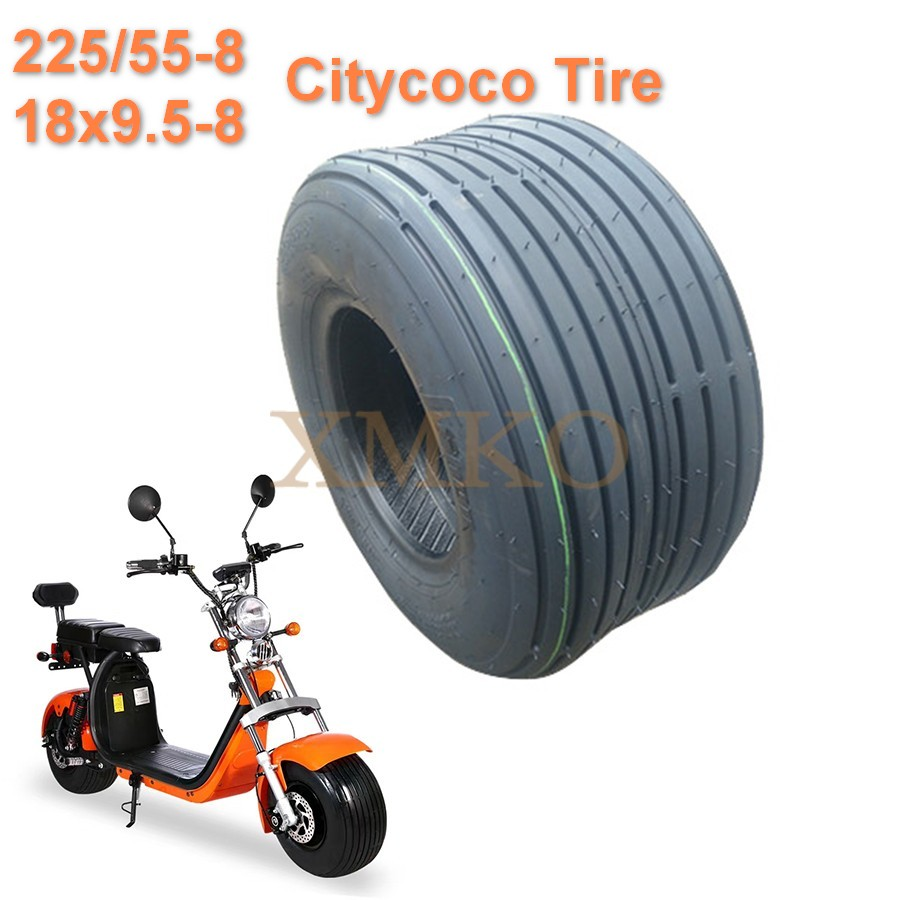 Free Shipping 225 55-8 Citycoco Tire 8Inch 18x9.50-8  4PR Electric Scooter Vacuum Tires For Harley Citycoco Scooter Wheel