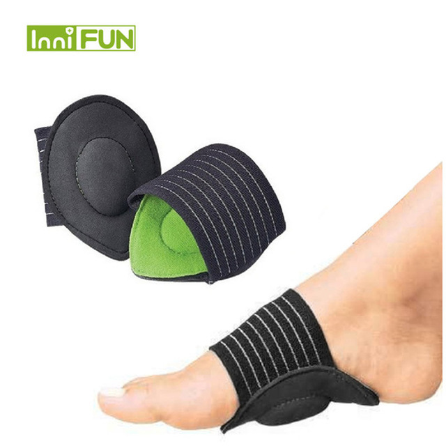 1 Pair Strutz Cushioned Arch Foot Support Decrease Plantar Fasciitis Pain Correction Night Foot Care Corrector Thumb Goodnight