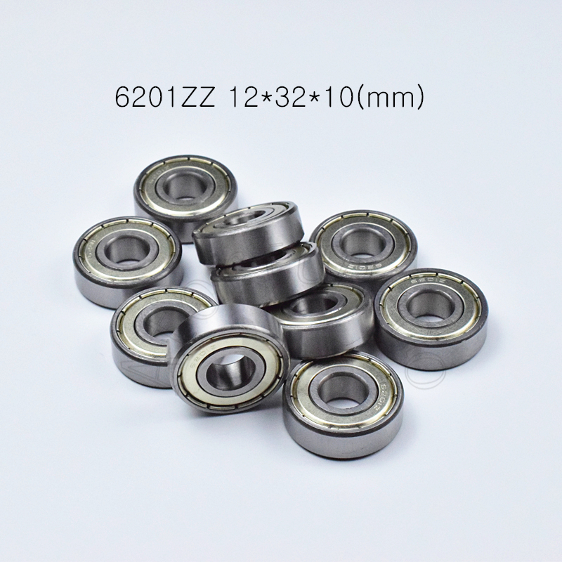 6201ZZ 12*32*10(mm) 1Piece Bearings ABEC-5  Metal Sealing Bearings 6201 6201Z 6201ZZ Chrome Steel Bearing