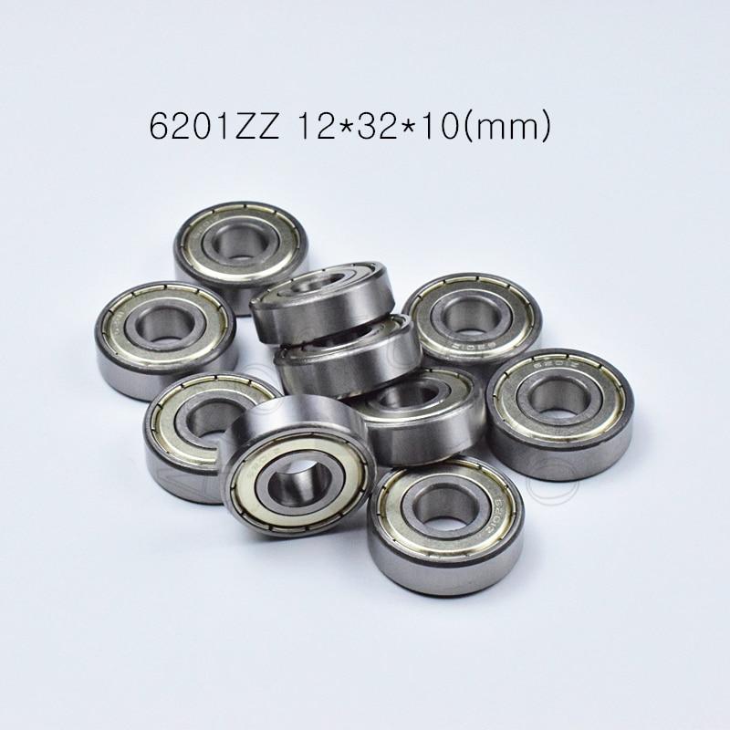 6201ZZ 12*32*10(mm) 1Piece Bearings ABEC-5  Metal Sealing Bearings 6201 6201Z 6201ZZ Chrome Steel Bearing