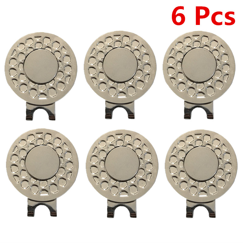 Golf Hat Clips 2 Pcs 3 Pcs 6 Pcs Hat Clips Marker Caps Belt Official Alloy Magnetic Golf Accessories Alignment Set Finger Ten