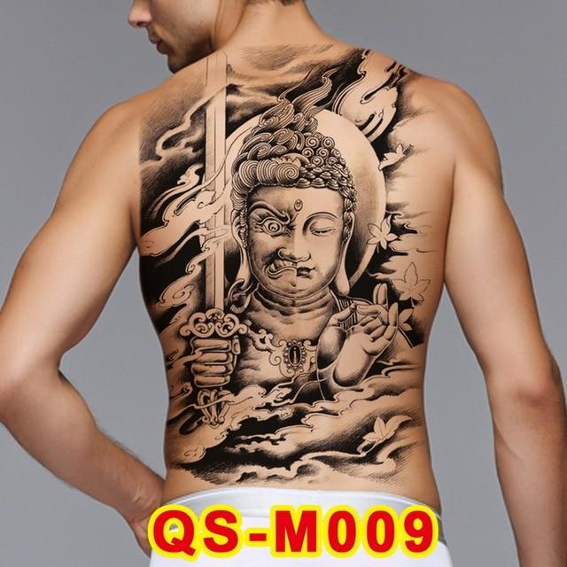 1pc Men Full Back Large Tattoo Stickers 20 New Design Good Evil