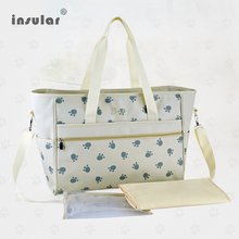 New Arrival Free Shipping Fashion Nappy Bags Paws Printed Mommy Bags Waterproof Baby Diaper Bags