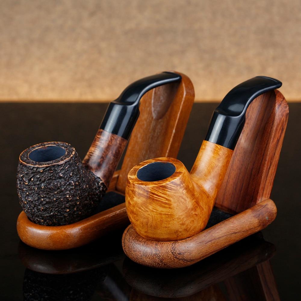 Классический мини-Бриар курительная трубка 9 мм фильтр табачная труба Бриар Деревянные трубы бесплатные инструменты подарочный набор случайные гравированные бриарные Трубы Набор