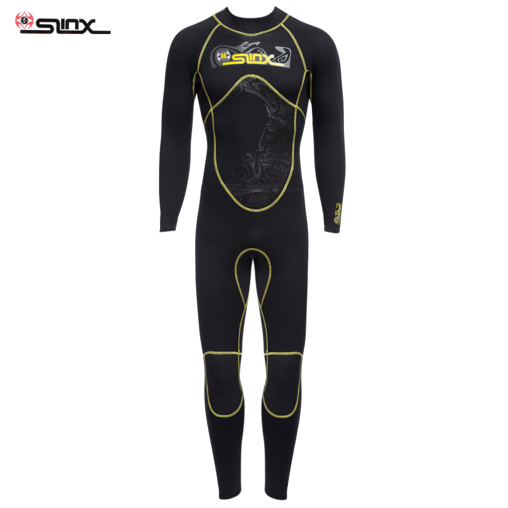 SLINX 1101 Men Wetsuit 3MM Scalable High Elastic Full Body Sunblock Diving Suit Nylon Waterproof Wetsuit For Water SportsSLINX 1101 Men Wetsuit 3MM Scalable High Elastic Full Body Sunblock Diving Suit Nylon Waterproof Wetsuit For Water Sports