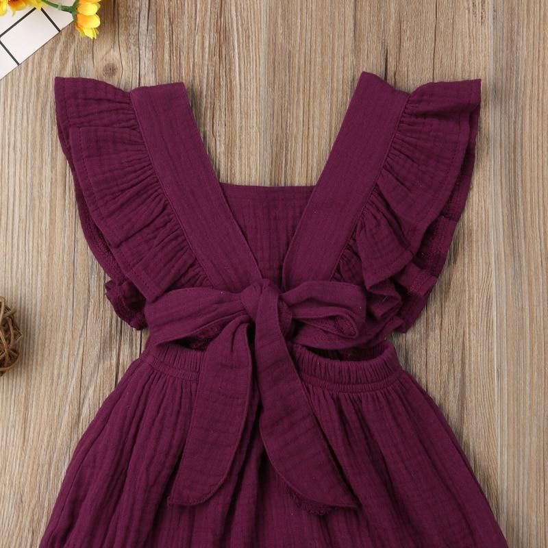 HTB1Z R8avvsK1RjSspdq6AZepXaP 6 Color Cute Baby Girl Ruffle Solid Color Romper  Jumpsuit Outfits Sunsuit for Newborn Infant Children Clothes Kid Clothing