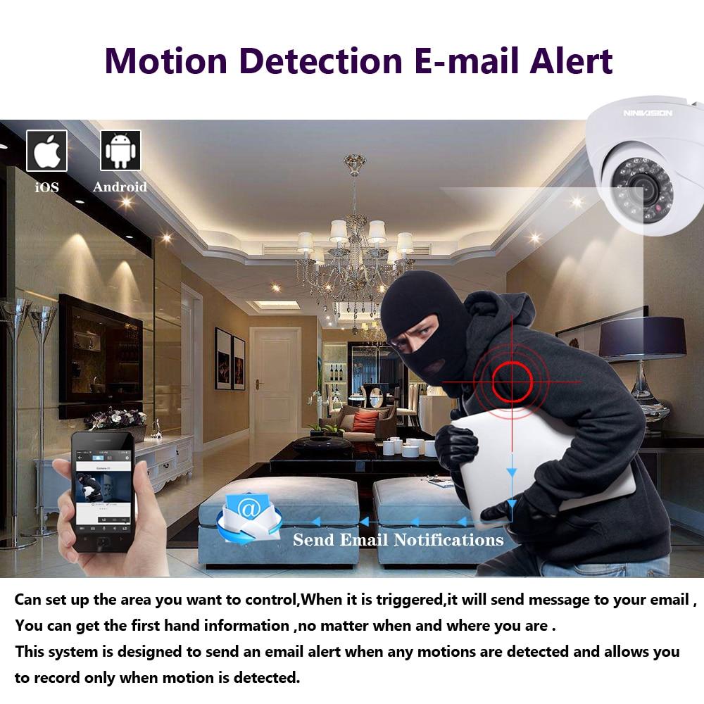Купить с кэшбэком NINIVISION HD 8CH 4MP AHD security camera System Kit H.264 Dome Camera indoor Outdoor home cctv Video Surveillance DVR NVR set