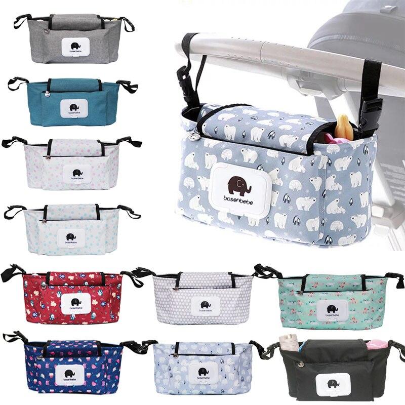 Cochecito de bebé organizador bolsa de pañales de la momia bolsa de bebé impermeable de gran capacidad accesorios para cochecito de pañal