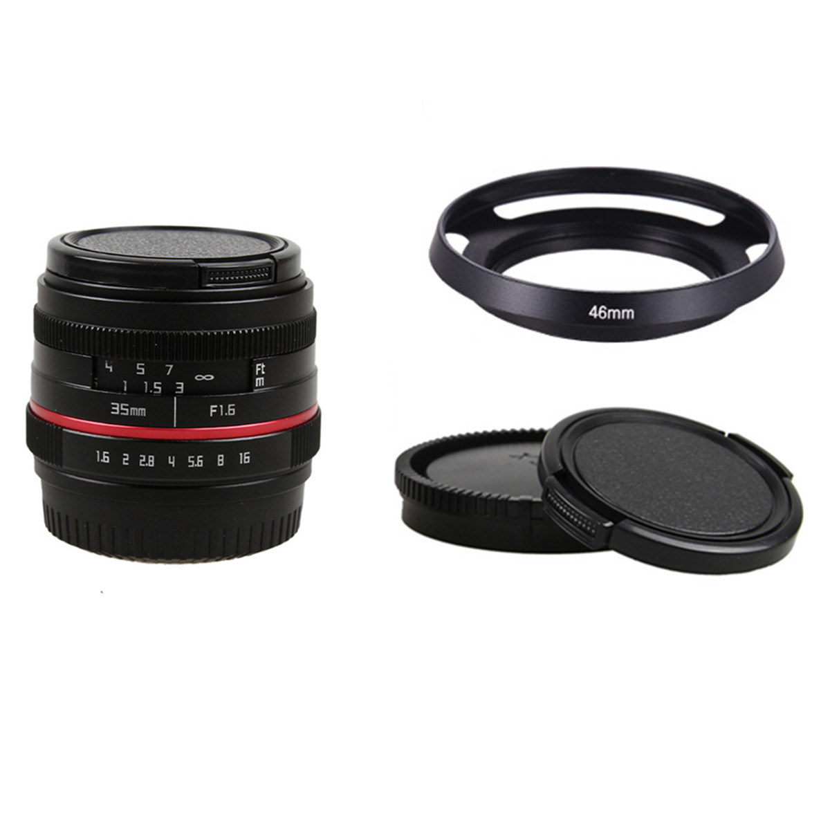 50mm f/1.8 APS-C F1.8 camera Lens for SONY E Mount A6500 A6300 A6100 A6000 A5100 A5000 NEX-7 NEX-6 NEX5/B/R NEX-3 35mm f1 6 cctv lens c mount camera lens lens hood kit for sony a6500 a6300 a5100 a6100 a6000 a5000 a3000 nex 5t nex 3n nex 6