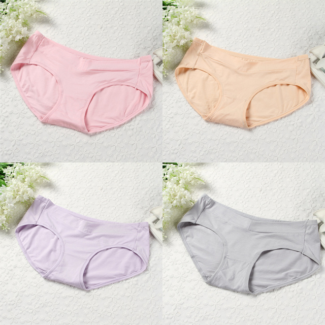 66ec405912c 910  4PCS Set Low Waist Belly Maternity Panties Cotton Briefs Set Clothes  for Pregnant Women Pregnancy Underwear Drop Shipping