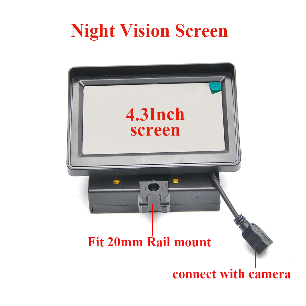 Hunting 4.3 Inch Night Vision Screen Optics Sight Tactical Digital Infrared Night Sight Accessories