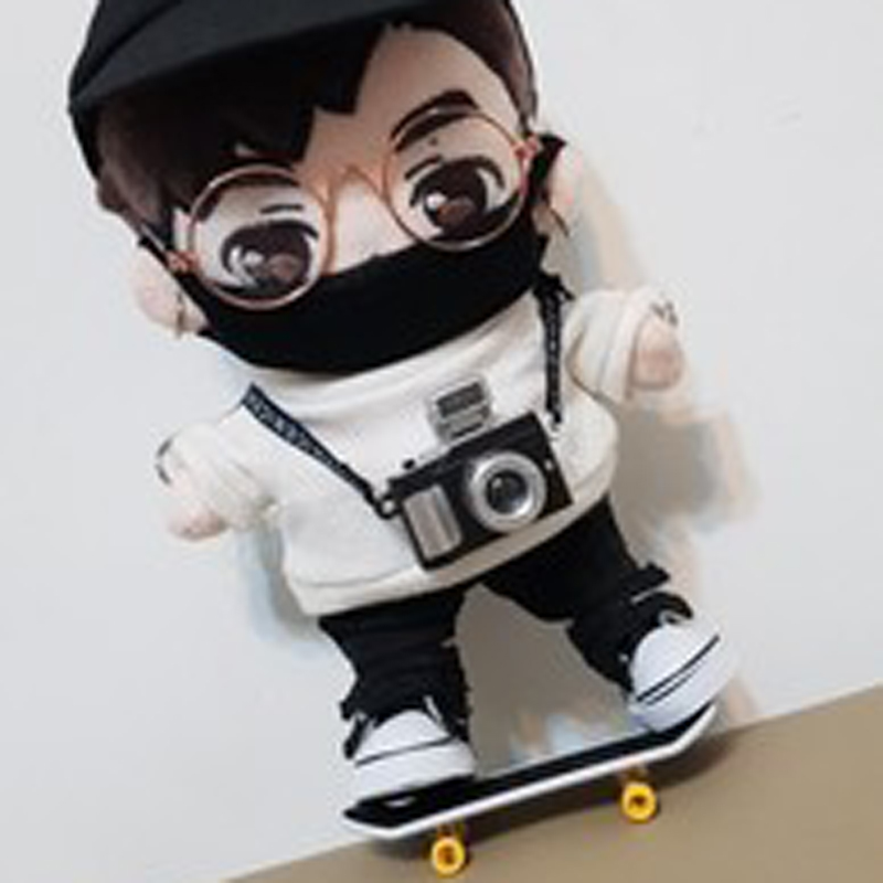 Doll Skateboard For 1/8 BJD Got7 Doll Accessories 20cm Doll Use Mask Glasses