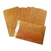 100 adet/grup yeni vintage kraft kağıt damgası serisi zarflar antika kraft hediye zarf 16*11cm toptan