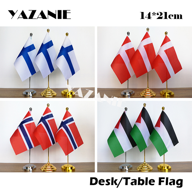 YAZANIE 14 21cm Finland Denmark Custom Office Desk Flag Norway