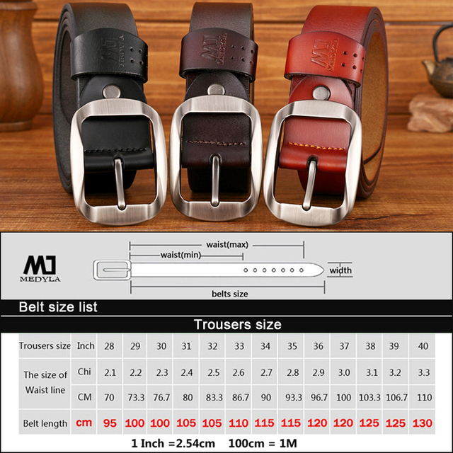 MEDYLA Dropship High Quality Genuine Leather Belt 5