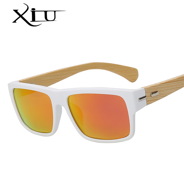 63770a0f4444d XIU Polarized Sunglasses Men Vintage Bamboo Glasses Fashion Sunglass Women  Brand Designer Oculos De Sol Masculino