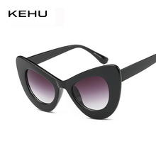 KEHU Popular Sexy Fashion Women Cat Eye sunglasses Inspired Retro Vintage Sun glasses