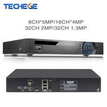 Techege מלא HD 32 ערוץ 1080P CCTV NVR 8CH * 5M/16CH * 4M/32CH 2MP/32CH 1.3M ONVIF P2P זיהוי תנועת HDMI טלוויזיה במעגל סגור וידאו מקליט