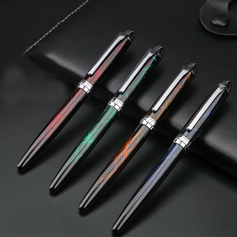 Colorful lines Body Iraurita fountain pen 0.38mm ink pen metal writing pens dolma kalem caneta tinteiro Stationery  1056
