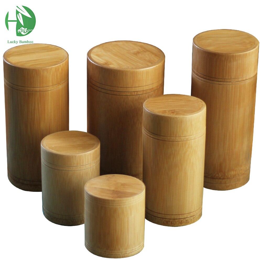 popular tea accessories wholesalebuy cheap tea accessories  - handmade tea box bamboo storage box tea canister lid seal kitchen storagejars accessories spice box