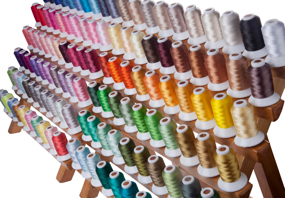 SIMTHREAD 120 Assorted Colors 100 Polyester Embroidery Thread 550 Yards Spool Free Shipping