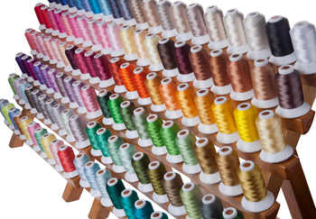 SIMTHREAD 120 Assorted Colors 100% Polyester Embroidery Thread 550 Yards/Spool Free Shipping - DISCOUNT ITEM  10% OFF All Category