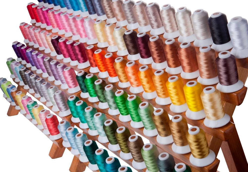 SIMTHREAD 120 couleurs assorties 100% Polyester fil à broder 550 Yards/bobine livraison gratuite-in Fil from Maison & Animalerie    1