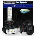 Koomtoom specail para hyundai faros led bombilla h7 kits (6000lm por 12000lm conjuntos) H7 LED Bulb Solo Haz de Luz Blanca 6500 k