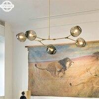 Black/Gold Retro Loft Industrial Pendant Lights Bar Stair Dining Room Glass Shade Modern Simple Pendant Lamp Fixtures
