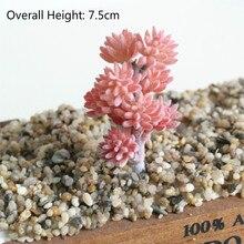 7.5cm Artificial Succulent Plants Simulation Home Garden Office Decoration Fake Flower plantas artificiais