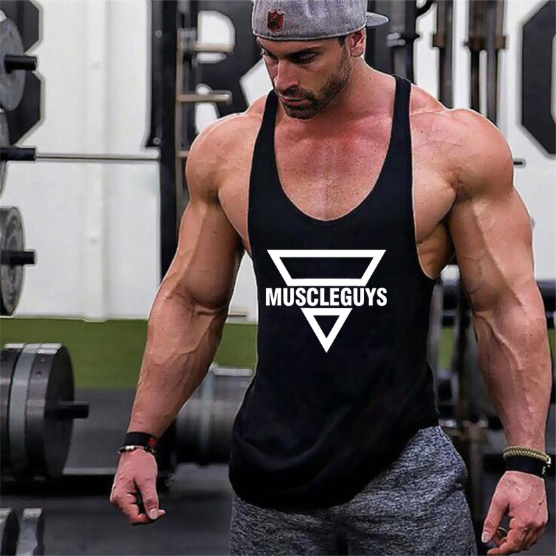 Muscleguys Brand gyms clothing Bodybuilding singlet Fitness Mens   Tank     Top   Wear Vest Stringer sportswear Undershirt