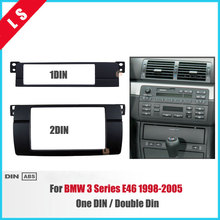 One / Double Din Car Radio DVD Fascia For BMW 3 Series E46 1998-2005 Stereo Panel Dash Mount Trim Kit Frame,1Din / 2 Din seicane good double din car radio fascia for 2009 2011 chevrolet cruze stereo dvd player install frame surrounded trim panel kit