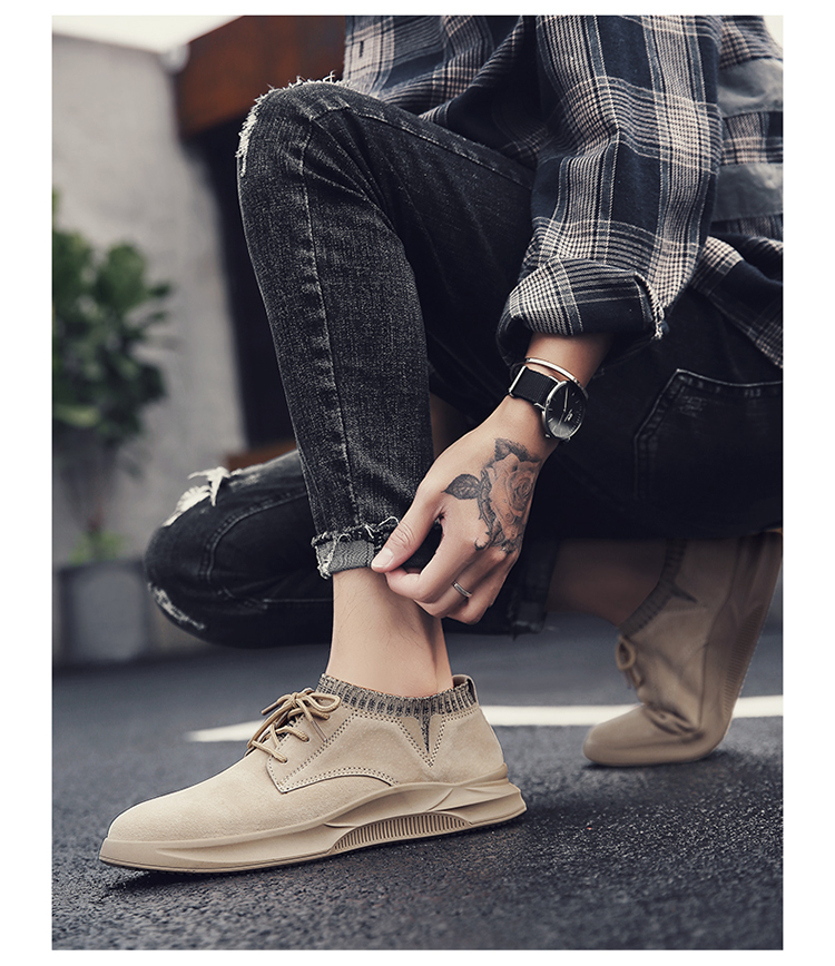 Casual Genuine Leather Suede Sneakers Unisex 7