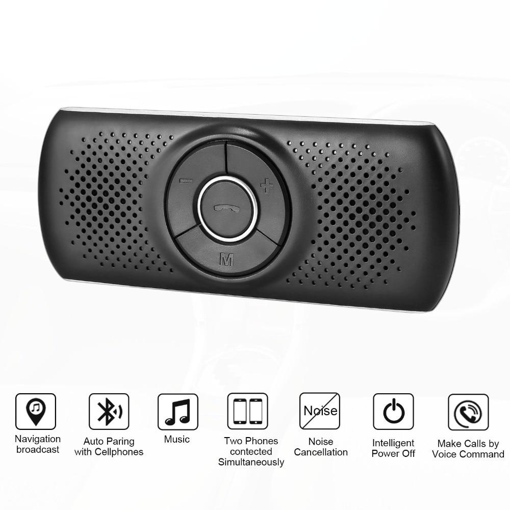 ANLUD Handsfree Bluetooth Car Kit Wireless Bluetooth Speaker Phone EDR MP3 Music Player Sun Visor Clip Speakerphone (1)