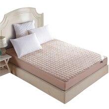 Colchón de lana almohadilla de protección cama individual twin completa reina rey cubierta/topper con relleno/relleno/caucho acolchado sábana ajustable