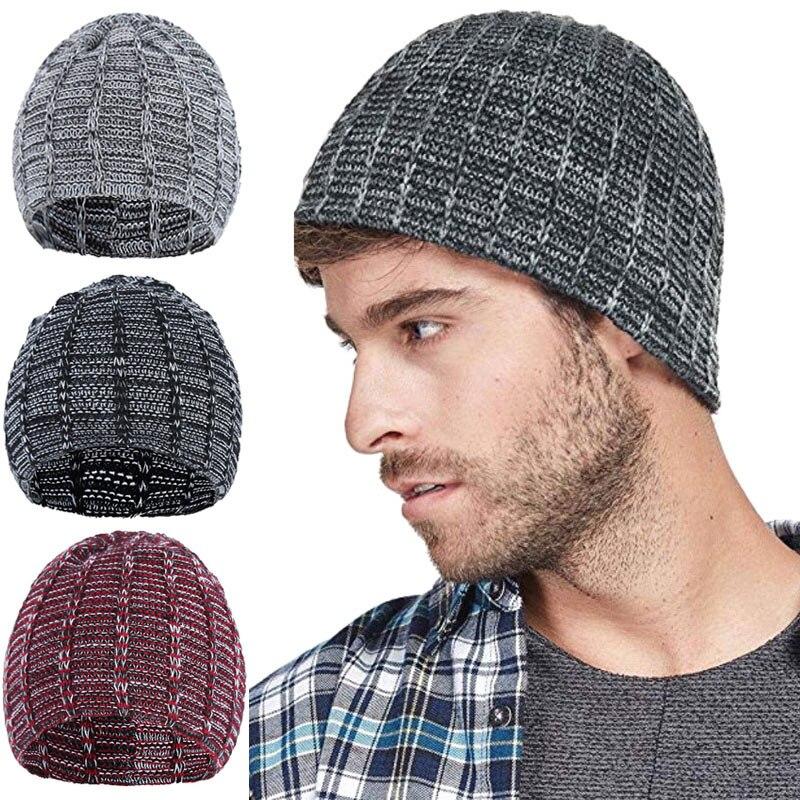 Solid Color Warm Knitted Hat Crochet Winter Caps Lattices Color Unisex Slouchy Women Men   Skullies     Beanie   TT@88
