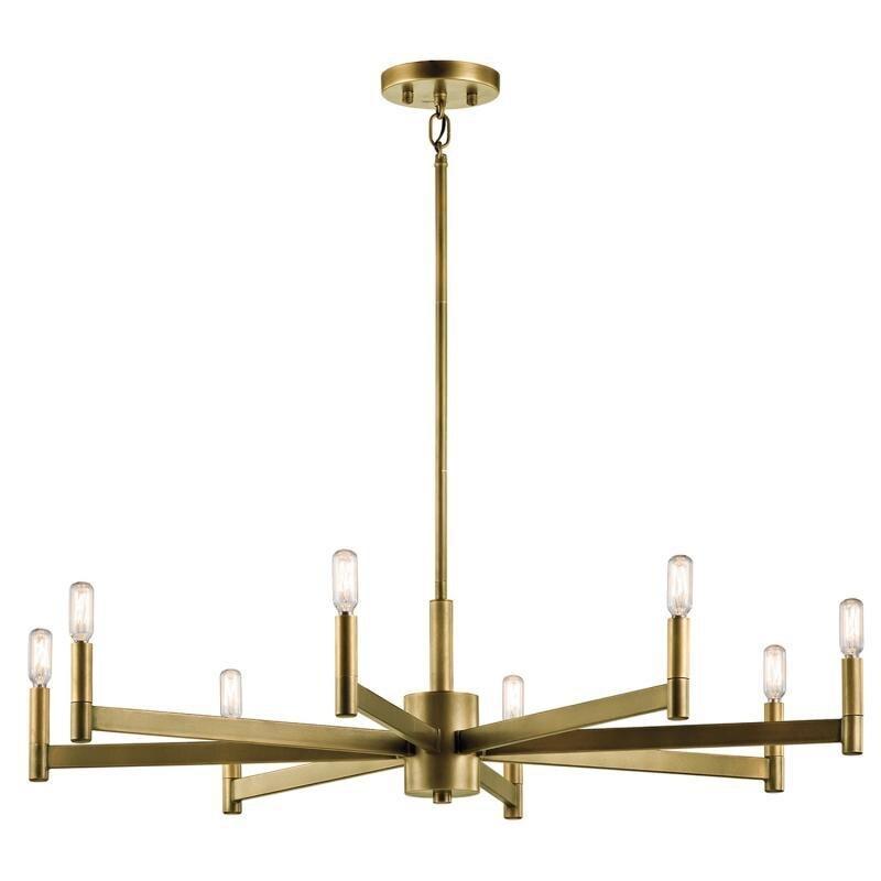 Estilo americano latón 6 8 brazo LED luz de la lámpara de cobre luz con 6 W blanco cálido E27 lámpara led AC85V-240V lámpara de luz led