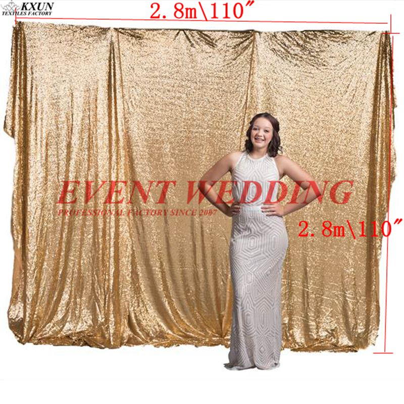 2.8 x2.8M Seamless Sequin Backdrop Curtain Stage Background For Wedding Event Decoration
