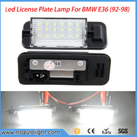 2pcs 12V 18 LED 6000K Bulb License Number Plate Light Lamps For BMW 3 Series E36