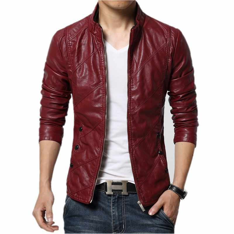 bced37888 Detail Feedback Questions about New Fashion PU Leather Jacket Men ...