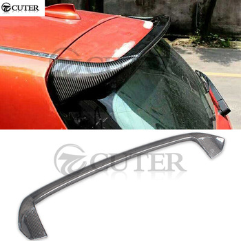 F20 Carbon Fiber rear spoiler roof wings top wings for BMW F20 1 Series 116i 118i 120i 140i 125i car body kit AC style 2012-UP image